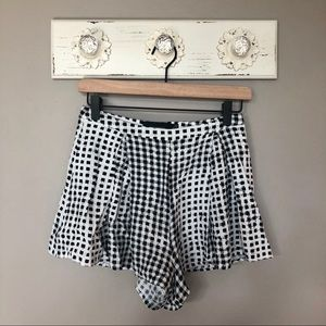 MINKPINK | Black and White Checkered Shorts